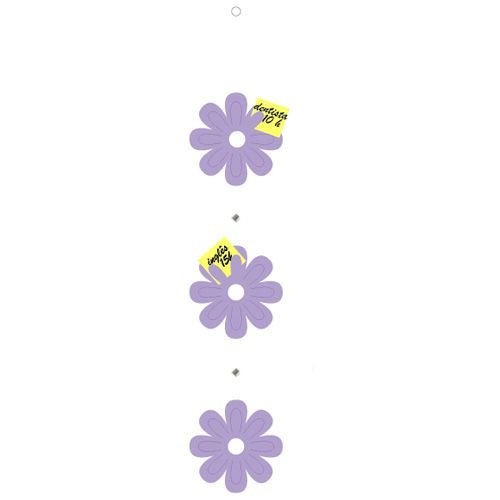 Móbile FLOR RECADOS - Kit com 3 unidades