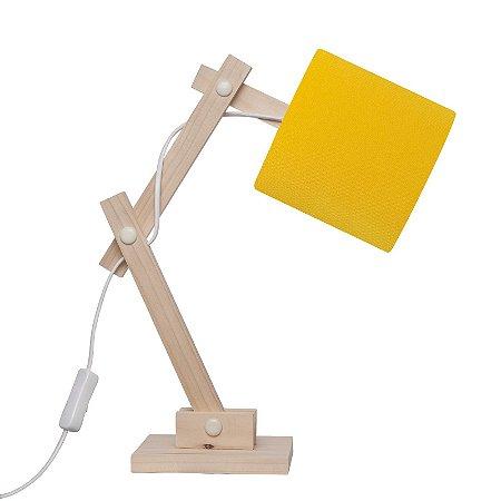 Luminária Articulada Amarela