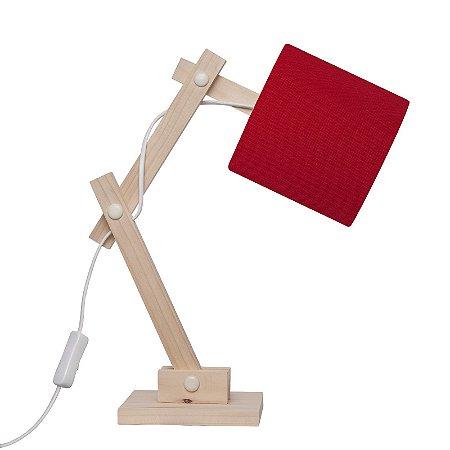 Luminária Articulada Vermelha