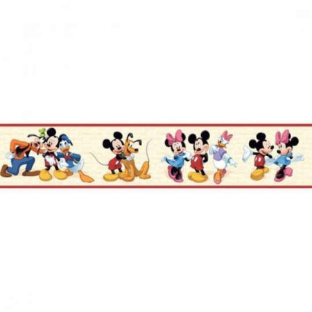 Faixa de Parede Turma do Mickey Disney York DK5916 com Estampa Infantil, Disney