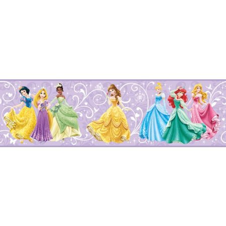 Faixa de Parede Princesas Disney York II DS7602BD