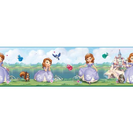 Faixa de Parede Princesinha Sofia Disney York II DS7618BD