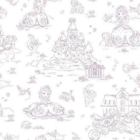 Papel de Parede Princesinha Sofia Disney York II DS7627