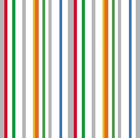 Papel de Parede Listras Coloridas com Fundo Branco Bobinex Renascer 6207 Vinílico