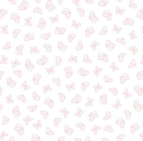 Papel de Parede Borboletas Rosas Bobinex Renascer 6217 Vinílico