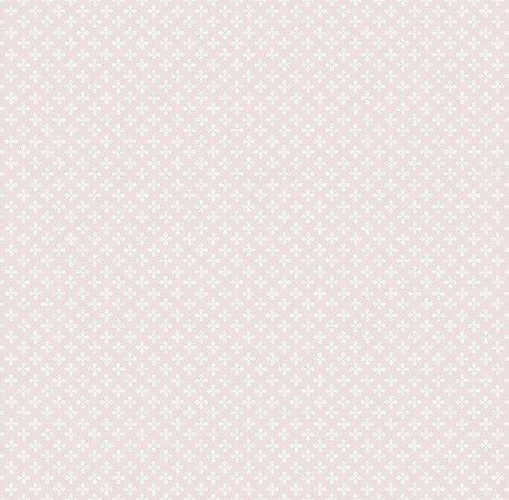 Papel de Parede Estampa Clover Rosa Bobinex Renascer 6223 Vinílico