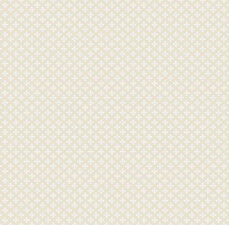 Papel de Parede Estampa Clover Bege Bobinex Renascer 6225 Vinílico