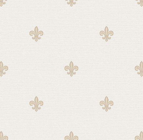 Papel de Parede Flor de Lis Tons de Bege Bobinex Renascer 6231 Vinílico