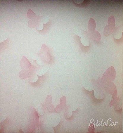 Papel de Parede Borboletas Tons de Rosa Kantai Grace Vinílico GR920401