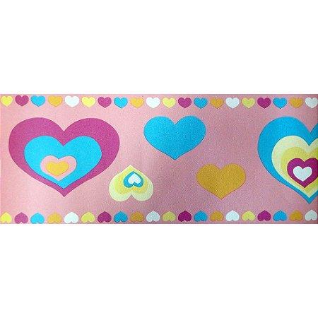 Faixa Corações Tons de Rosa Kawayi 332201 Vinílico