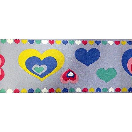 Faixa Corações Tons de Azul Kawayi 332205 Vinílico