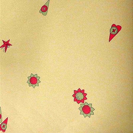 Papel de Parede Desenhos Meninas Amarelo Kawayi 313101 Vinílico