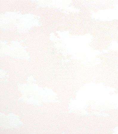 Papel de parede infantil nuvens rosa claro estilocor - Papel infantil para paredes ...