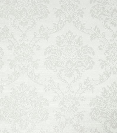 Papel de Parede Colonial Off-White/Gelo Vinílico