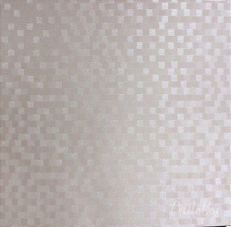Papel de Parede Quadriculado Rosê Vinílico