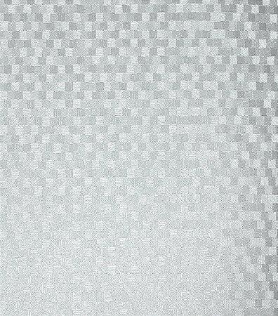 Papel de parede quadriculado prata vin lico estilocor - Papel vinilico para paredes ...