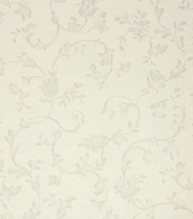 Papel de parede floral bege claro acinzentado vin lico - Papel vinilico para paredes ...