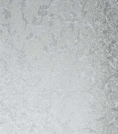 Papel de parede floral prata vin lico estilocor - Papel vinilico para paredes ...