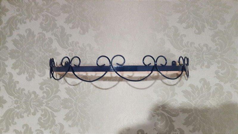 Combo Dossel Arabesco Azul Marinho + Mosquiteiro de Tule com Guipir