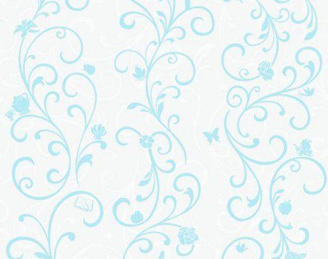 Papel de Parede Princesa Arabesco Azul DY0341