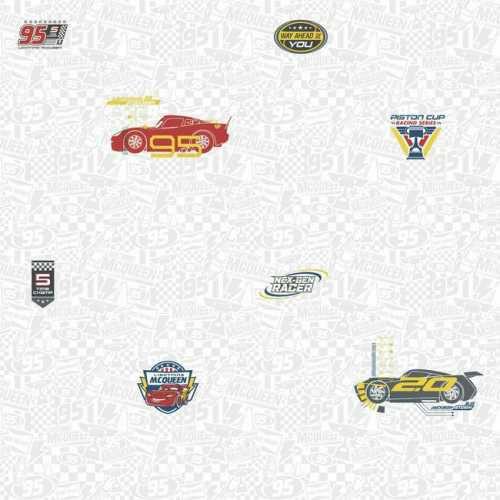 Papel de Parede Carros Cinza Disney York III DY0190