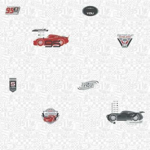 Papel de Parede Carros Cinza Disney York III DY0191