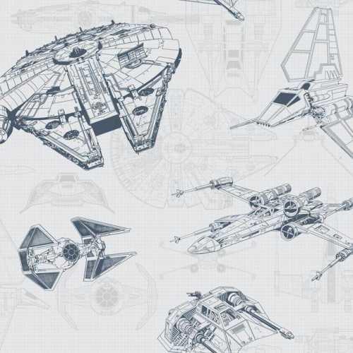 Papel de Parede Star Wars Disney York III DY0306