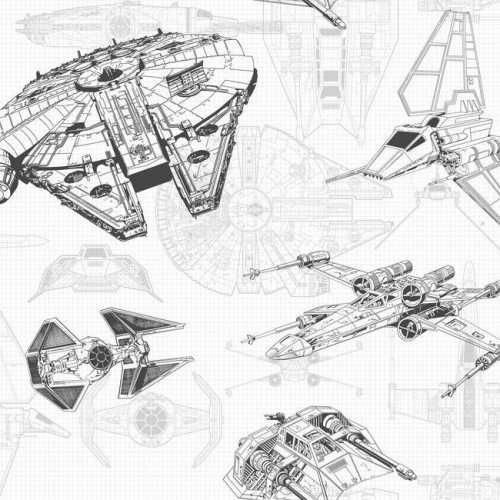 Papel de Parede Star Wars Disney York III DY0304