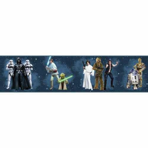 Faixa de Parede Star Wars Disney York III DY0287BD