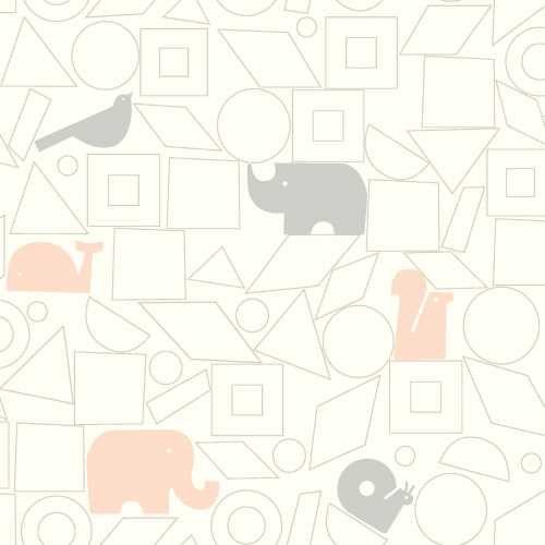 Papel de Parede Dwell Studio Baby Kids DW2441 elefante