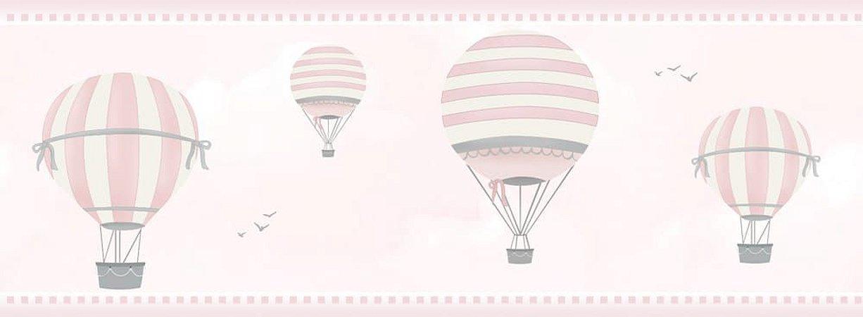 Faixa de Parede Balão Rosa