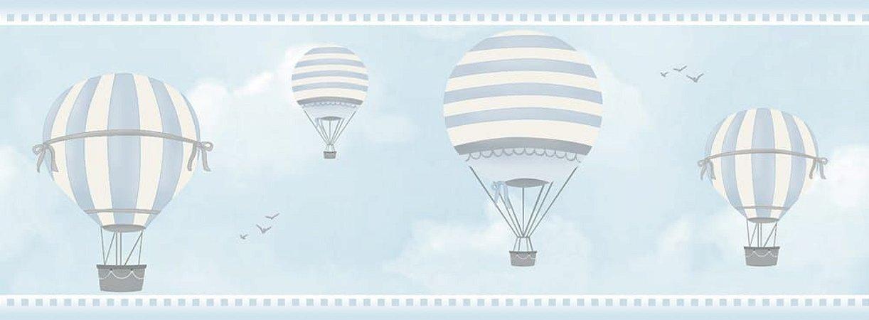 Faixa de Parede Balão Azul