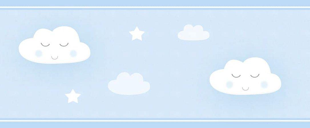 Faixa de Parede Chuva de Amor Azul