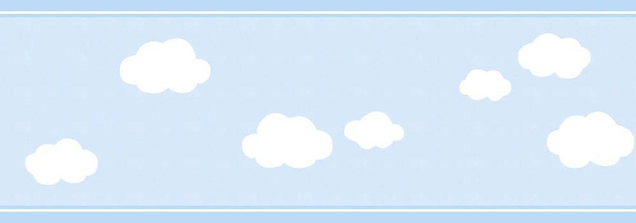 Faixa de Parede Nuvem Azul