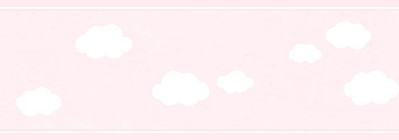 Faixa de Parede Nuvem Rosa