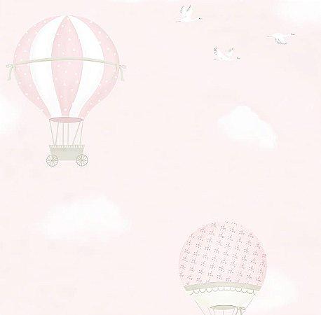 Papel de Parede Balão Rosa