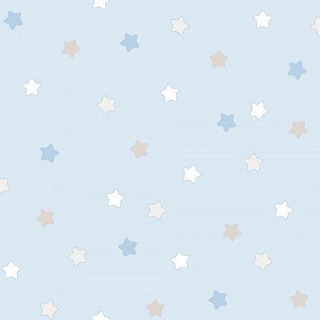 Papel de Parede Lullaby Estrela Azul 2251