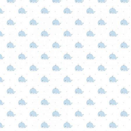 Papel de Parede Lullaby Baleia Azul 2231