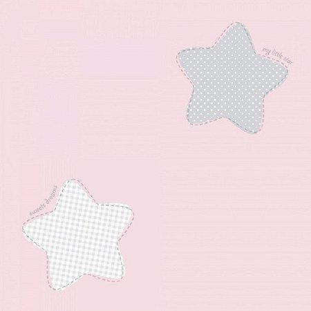 Papel de Parede Lullaby Estrela Rosa 2242