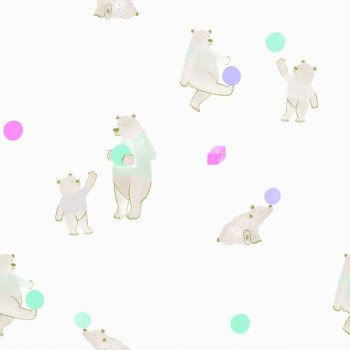 Papel de Parede Urso Bobinex Brincar 3627