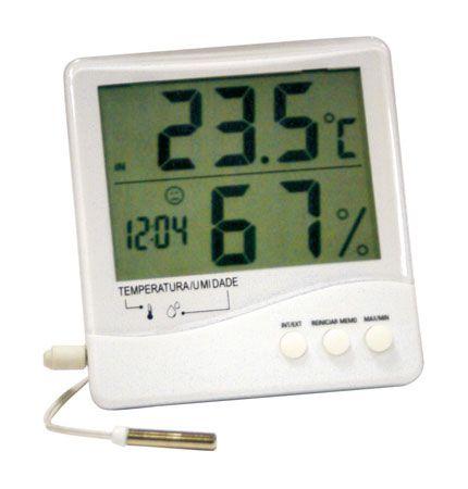 Termo-Higrômetro Digital Temperatura Interna e Externa e Umidade Interna Incoterm 7663.02.0.00