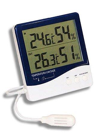 Termo-Higrômetro Digital Temperatura e Umidade Interna/Externa Incoterm  7664.01.0.00