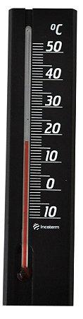 Termômetro Ambiente Com Base Em Madeira Preto Incoterm TA 229.08.1.00