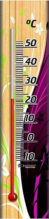 Termômetro Ambiente com Base em Madeira FLOR ESTRELA Incoterm TA 229.05.1.07