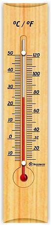 Termômetro Ambiente com Base em Madeira CLÁSSICO Incoterm  TA 214.05.1.00