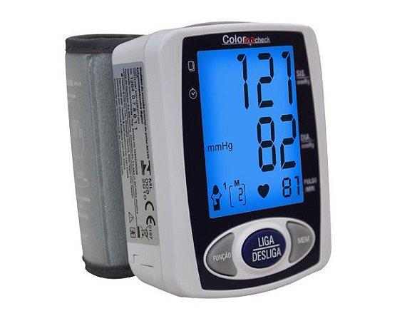 Medidor de Pressão Arterial e Pulsação Pulso Color Check Incoterm AC229