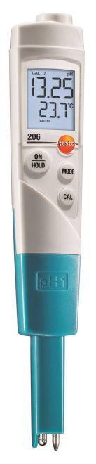 Instrumento de medição de pH / temperatura para líquidos testo 206-pH1-  0563 2061