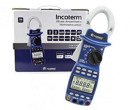 Alicate Amperímetro Digital Wattímetro Incoterm AD530