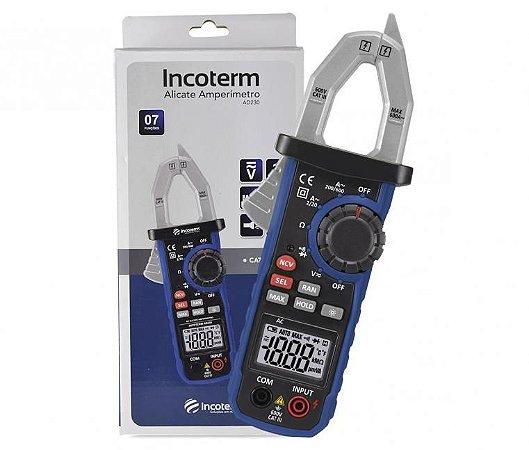 Alicate Amperímetro Digital Incoterm AD230