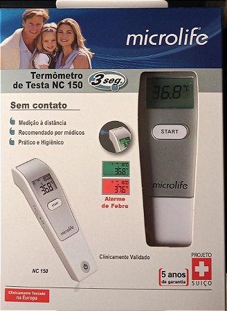 Termômetro Clínico Infravermelho Digital Sem Contato  NC 150 -  Microlife